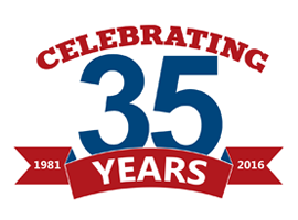McKinnis Celebrating 35 Years logo