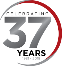 McKinnis celebrating 37 years logo