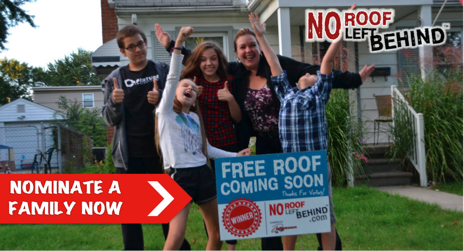 No Roof Left Behind - Free Roof Giveaway!