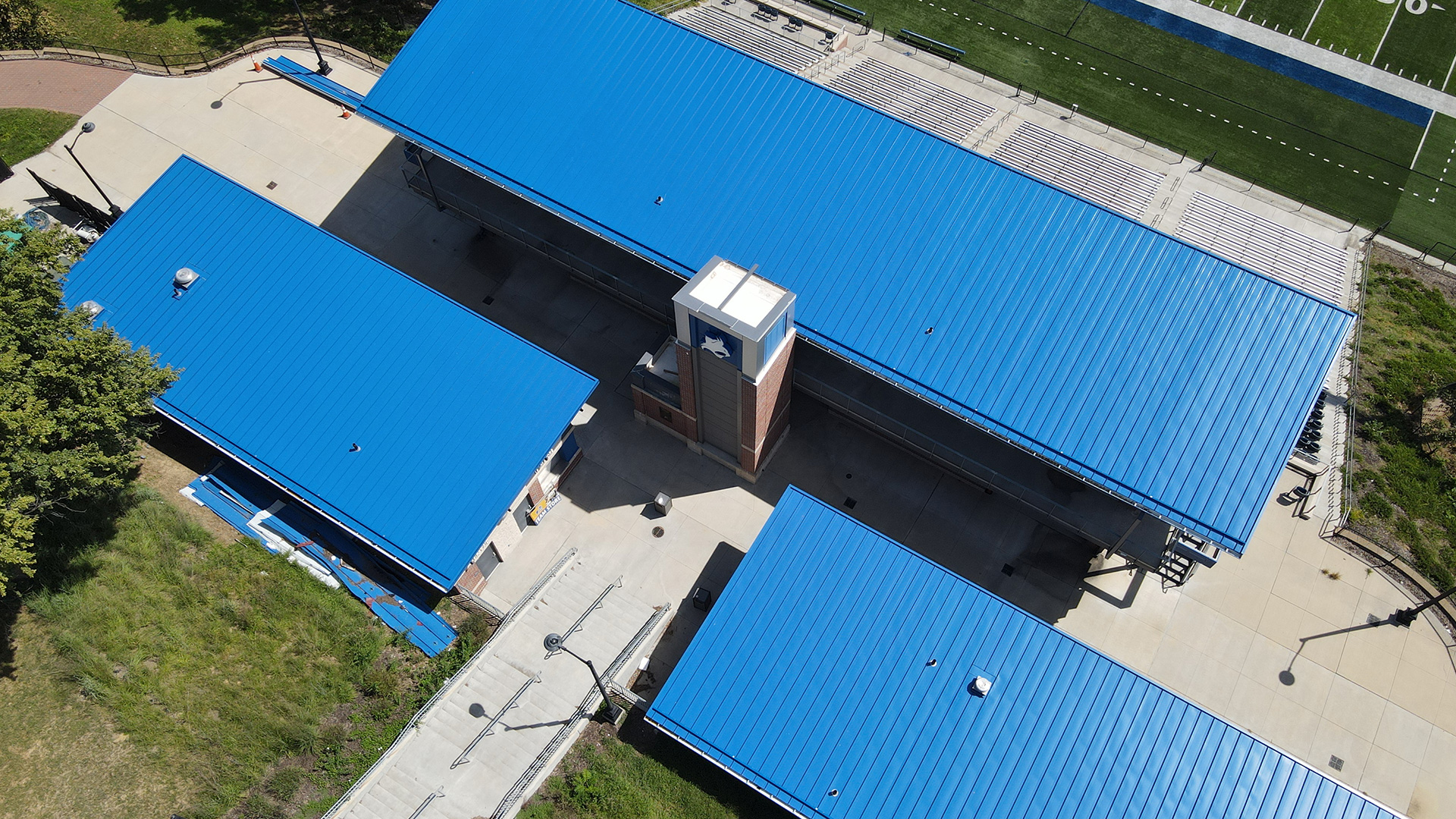 College - Standing Seam Metal Roofing